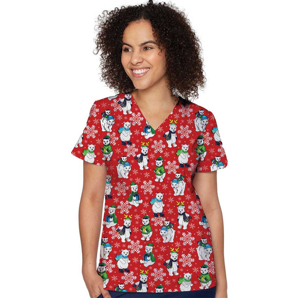 Medcouture Christmas Scrub Top- Polar Flurries
