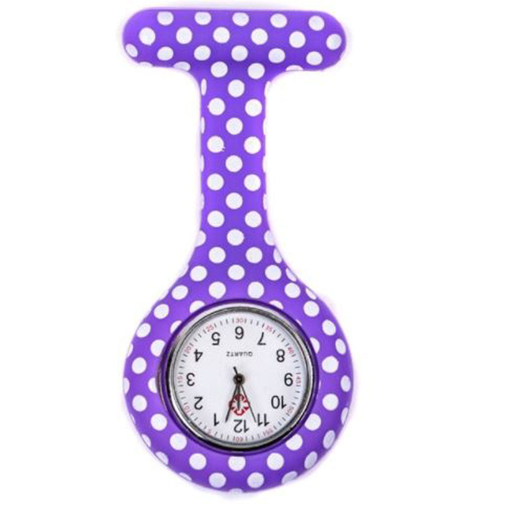 Purple Dots Nurse Fob Watches