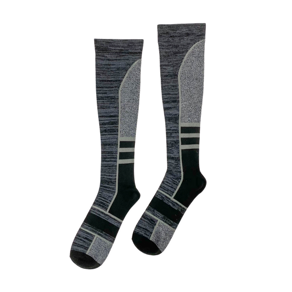 Landau Men's Compression Socks Grey Stripe