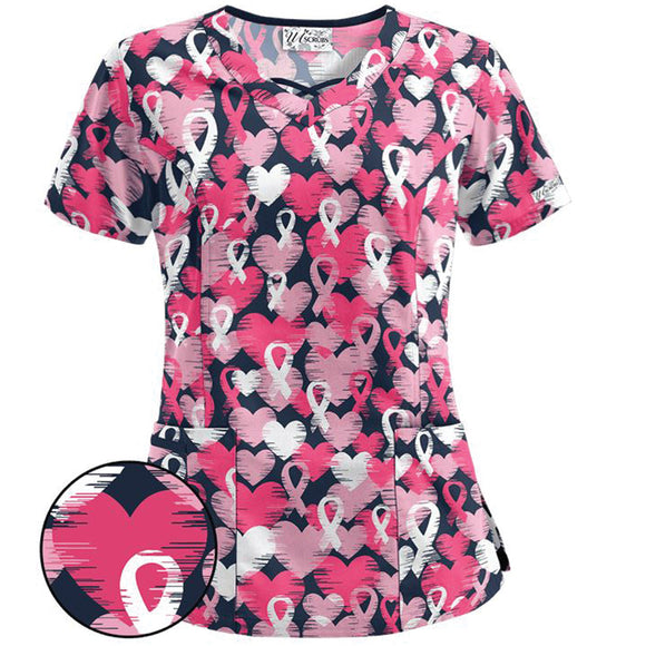 Love and Ribbons Women's Scrub Top
