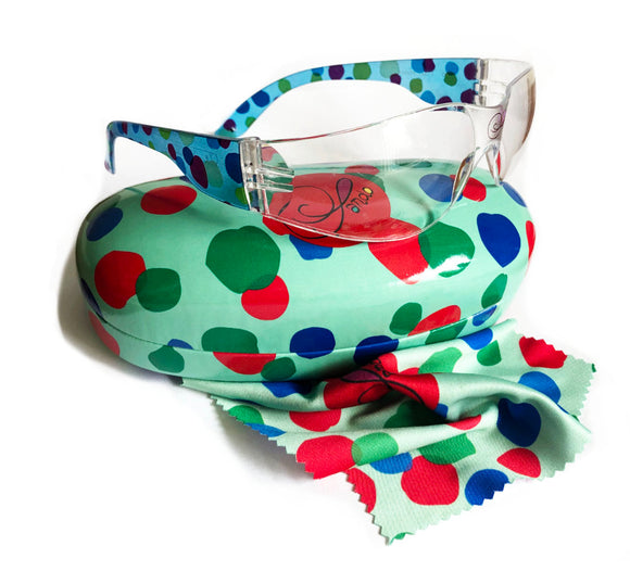 Safety Glasses Minty Dots & Spots