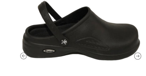 Clogee Women's Work  Strap Clog - Black