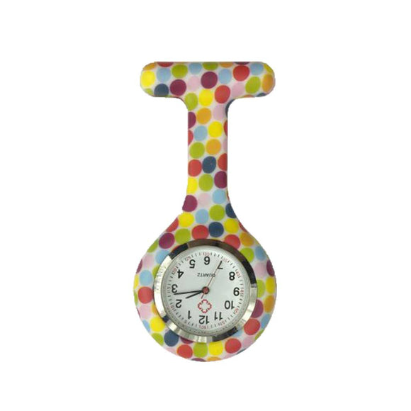 Colourful Dots Nurse Fob Watch