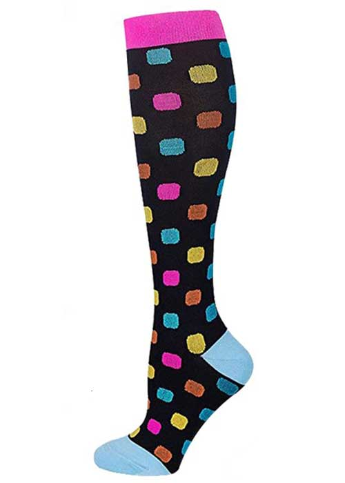 Compression Socks Colourful Rectangles