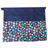 Base Colour Patterened Front Pouch