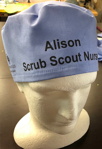 "ST JOHN OF GOD Hospital-  ""The Identifier"" Scrub Hats"