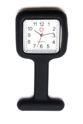 Black Square Nurse Fob Watch