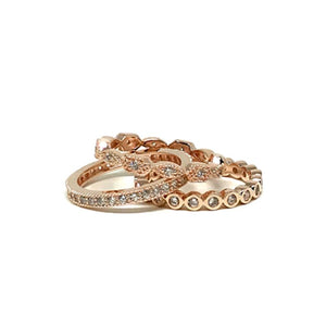 3 Stack Ring: Rose Gold Vermeil (RRG3/455) Rings athenadesigns