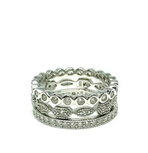 Load image into Gallery viewer, 3 Stack Crystal Ring: Sterling (R3/455) Rings athenadesigns Size 6: R3/455/6