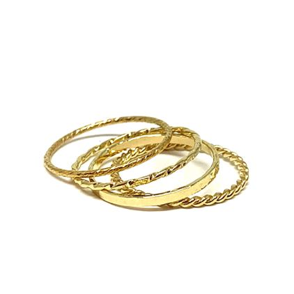 Four Stack Ring: Gold Vermeil (RG4/40_) Available in Sizes 6-8 Rings athenadesigns 6 RG4/40/6