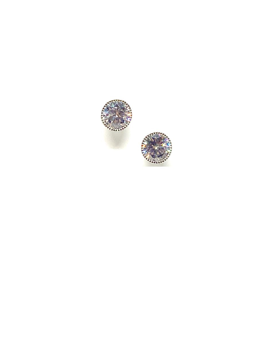 CZ Bezel Stud: 6mm: (ESP465/6) Earrings athenadesigns Default Title