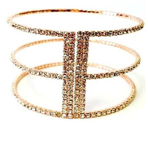 Rose Gold Crystal Cuff Bracelet (BRG3/445) Fashion Bracelet athenadesigns