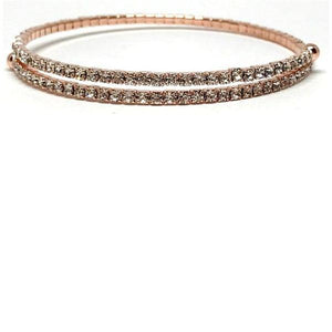 Rose Gold Crystal Wrap Bracelet (BRG5000) Fashion Bracelet athenadesigns