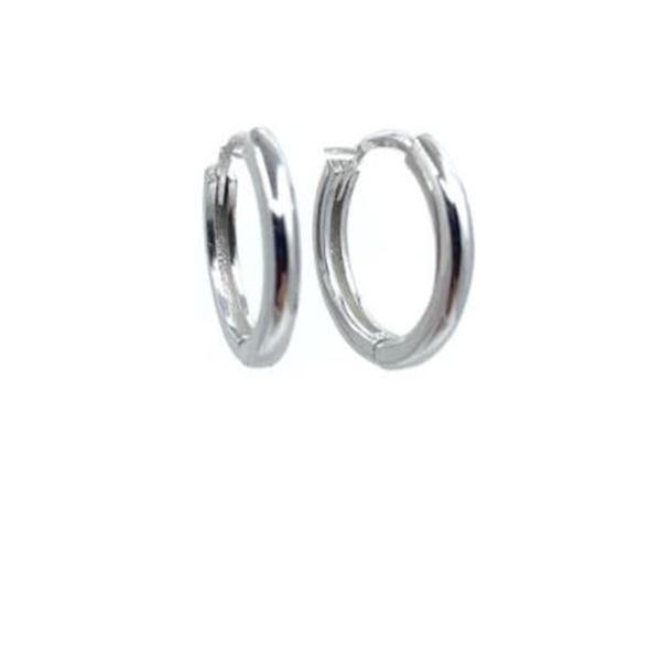 Hoop Earring 15mm: Sterling Silver (EH400/15) Earrings athenadesigns