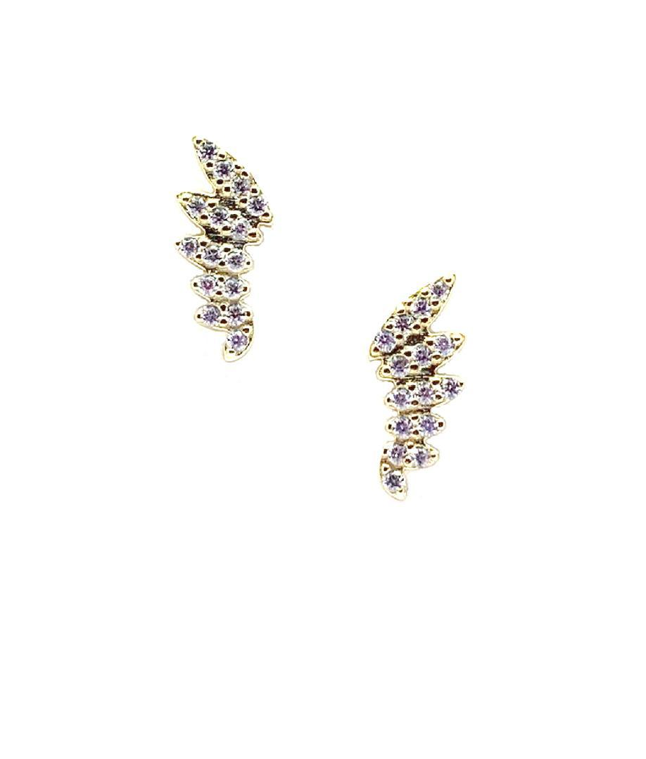 Pave Wing Stud: Gold Vermeil with Crystal (EGP45WING) Earrings athenadesigns