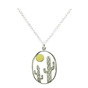 Cactus Charm Necklace: Sterling Silver (NCSP48CTS) Necklaces athenadesigns