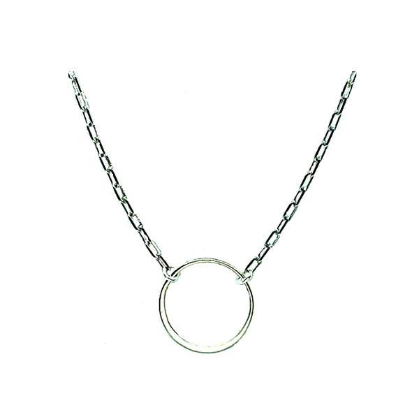 Circle: Open Sterling Silver On Link Chain (NCH4068) Necklaces athenadesigns