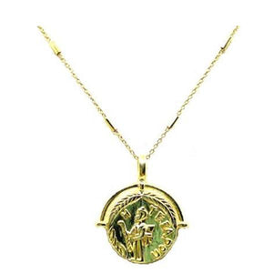 Coin Necklace Large in Gold Fill: (NCGP4CN/L) Necklaces athenadesigns