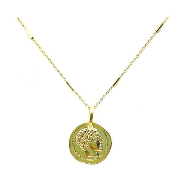 Coin Necklace Small in Gold Fill: (NCGP4CN/S) Necklaces athenadesigns