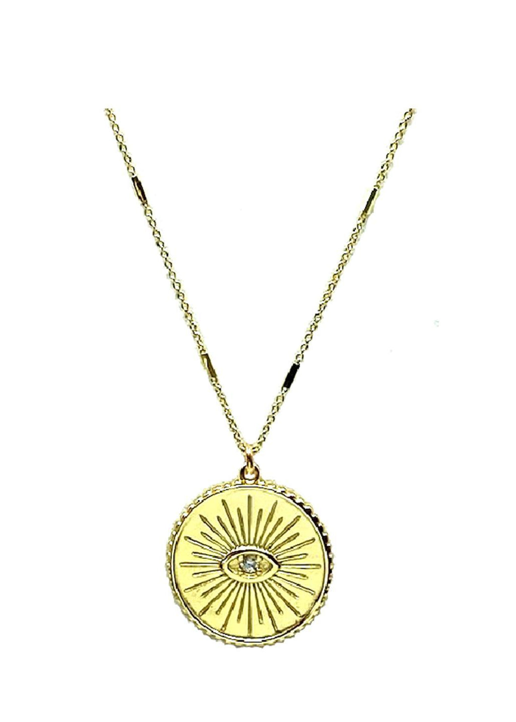 Evil Eye Necklace on Fancy Chain: Gold Vermeil Necklaces athenadesigns