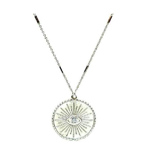 Evil Eye Necklace on Fancy Chain: Sterling Silver (NCP464EE) Necklaces athenadesigns