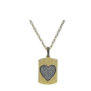 Heart Tag On18Kt Gold Fill Chain FACEBOOK athenadesigns