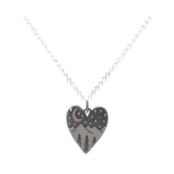 Mixed Metal Heart with Landscape (NCP64X) Necklaces athenadesigns