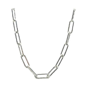 "Link Necklace: Large Link: Sterling: 16"" and 18"" (NC481/_) Necklaces athenadesigns 16"" : NC481/16"