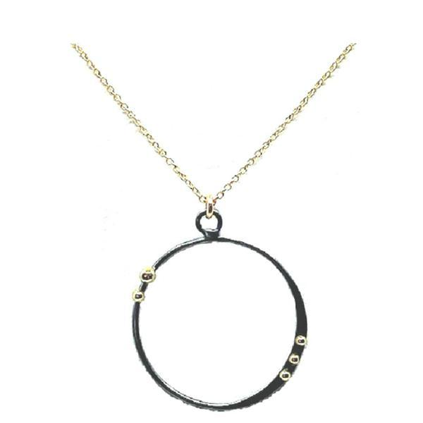 Mixed Metal Open Circle (NGCP4966X) Necklaces athenadesigns