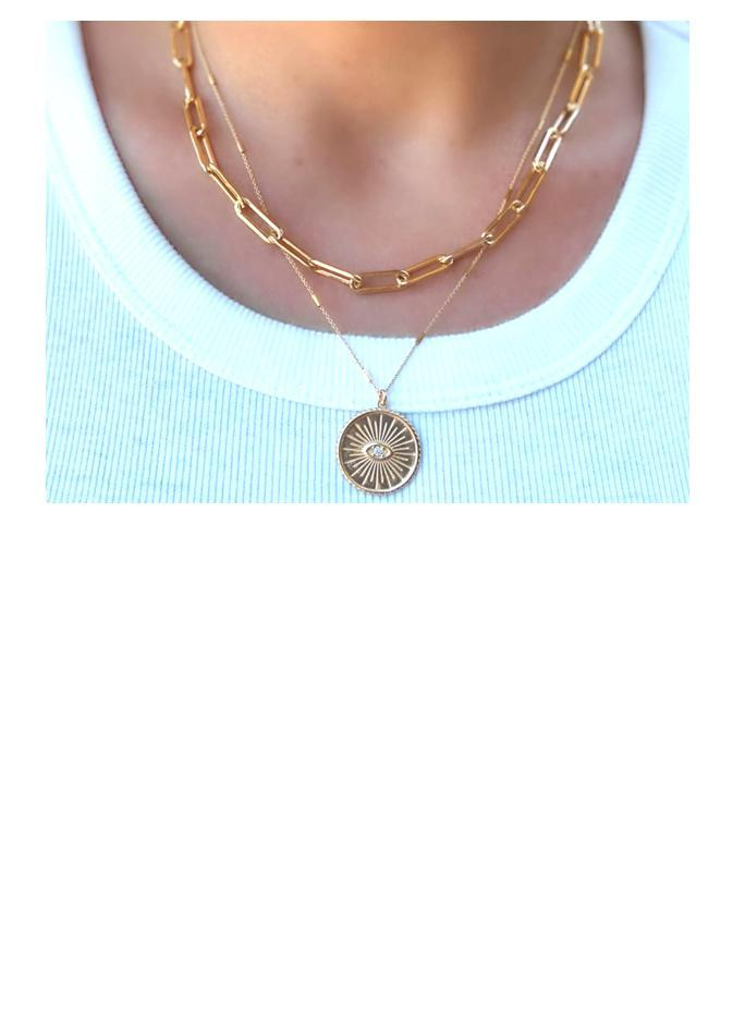 "Link Necklace: Large Link: Gold Vermeil: 16"" and 18"" (NCG481/_) Necklaces athenadesigns"