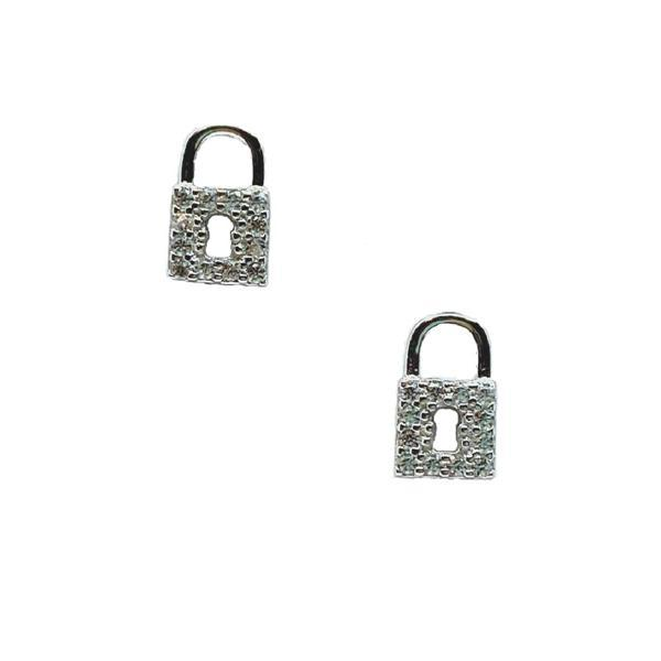 Lock: Micro Pave Studs: Sterling (EP45LCK) Earrings athenadesigns