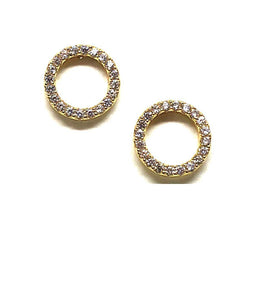 Stud Earring: Pave Crystal Circle Rose Gold (ERGP4605)Also Gold Earrings athenadesigns Gold - EGP4605