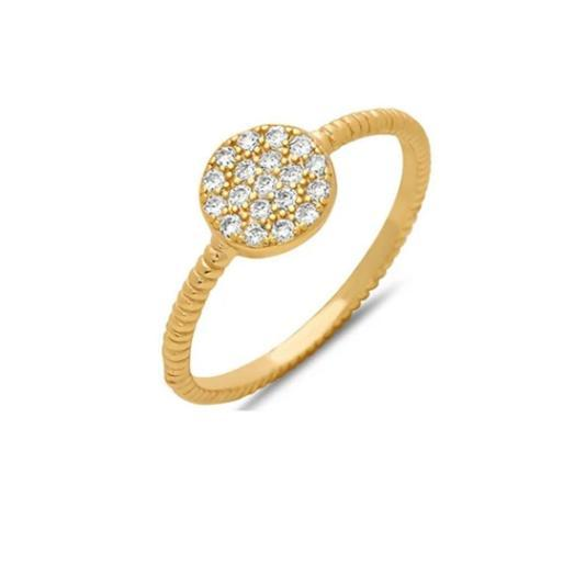 Micropave Disc Ring:Gold Vermeil (RG465C)Also Rose Gold Rings athenadesigns 6 Gold Vermeil