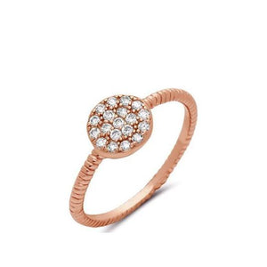 Micropave Disc Ring:Gold Vermeil (RG465C)Also Rose Gold Rings athenadesigns 6 Rose Gold Vermeil