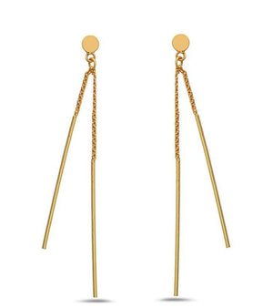 Two Bar Post Earring : Gold Vermeil (EGP440) SALE athenadesigns Gold - EGP440
