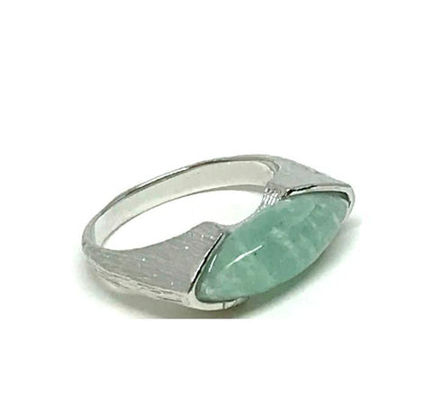 Marquis Shaped Stone Ring: Sterling Silver Amazonite (RS784AM)