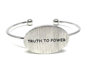Word Bracelet:Truth to Power: Gold Finish, Also with Rhodium Finish (BNG4008TP) SALE athenadesigns Silver: BNS4008TP