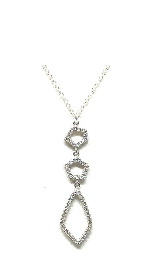 Crystal Drop Necklace: Abstract: Gold Vermeil (NGCP4559) Additional Finishes Necklaces athenadesigns Silver- NCP4559