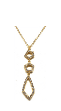 Load image into Gallery viewer, Crystal Drop Necklace: Abstract: Gold Vermeil (NGCP4559) Additional Finishes Necklaces athenadesigns Gold- NGCP4559