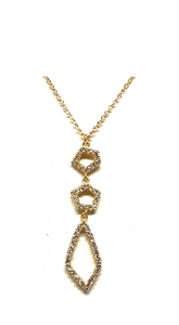 Crystal Drop Necklace: Abstract: Gold Vermeil (NGCP4559) Additional Finishes Necklaces athenadesigns Gold- NGCP4559