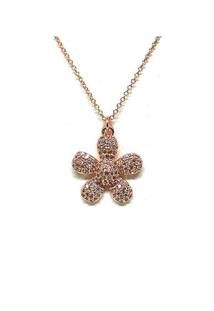 Charm Necklace: Flower: Small: Gold - Also in Rose Gold (PNCG/FLW) SALE athenadesigns Rose Gold - PNCRG/FLW