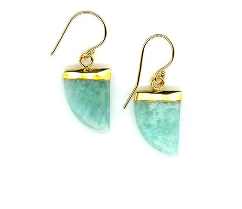 Tusk Stone Earring Gold Fill: Amazonite (EG749AZ)