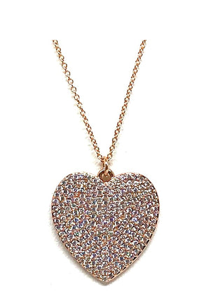 Charm Necklace: Heart: Large: Gold - Also in Rose Gold (PNCG/HRTL) SALE athenadesigns Rose Gold - PNCRG/HRTL
