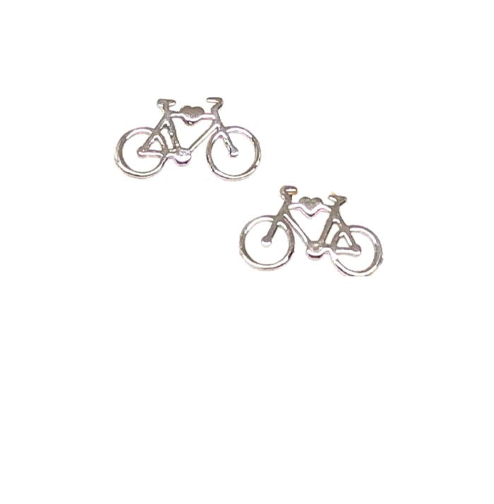 Bicycle Stud: Sterling Silver (ESP4BIKE) Earrings athenadesigns Default Title