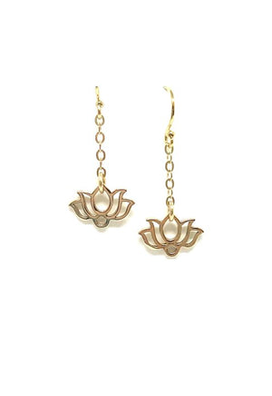 Lotus Earring: Gold Vermeil - Also in Sterling (EGC/LTS) SALE athenadesigns Gold - EGC/LTS
