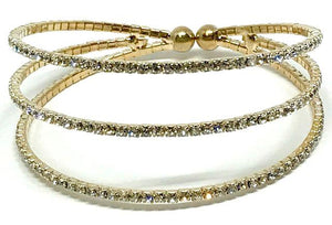 Gold Crystal Cuff Bracelet (BG3/405) Fashion Bracelet athenadesigns