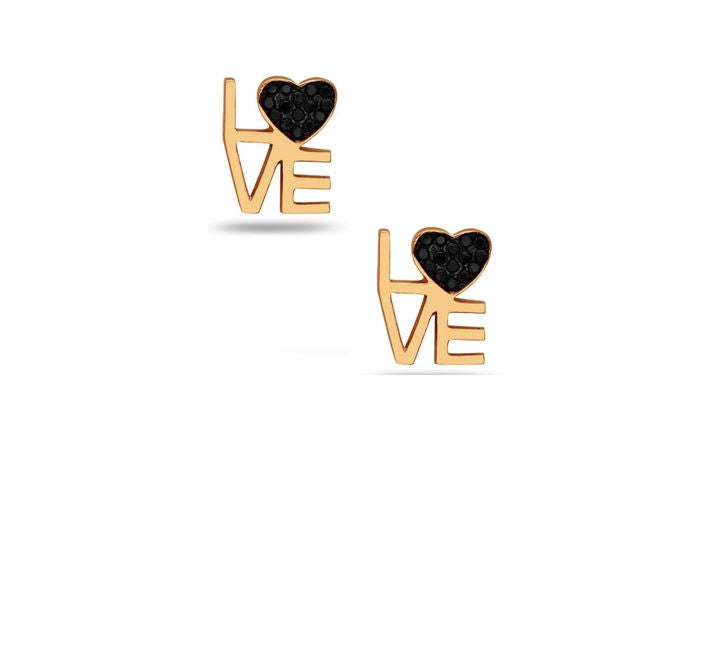 Love with Crystal Heart Stud: Gold Vermeil (EGP5LUV) SALE athenadesigns