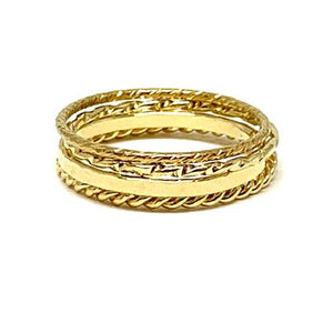 Four Stack Ring: Gold Vermeil (RG4/40_) Available in Sizes 6-8 Rings athenadesigns