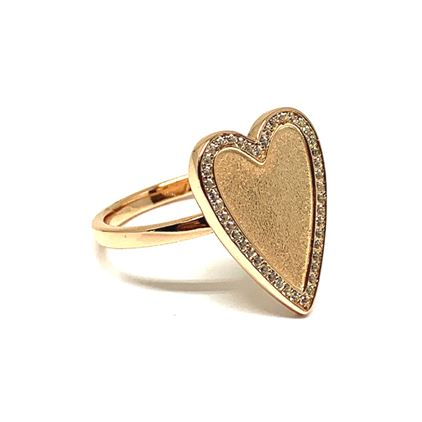 Heart Ring:Gold Fill (RG645) Also in Rose Gold Vermeil Rings athenadesigns 6 Rose Gold