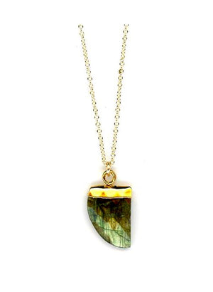 Tusk Stone Necklace Gold Fill: Labradorite (NCGP749LD) SALE athenadesigns